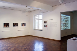 Installation image of Identikit exhibition at the Photo Workshop Gallery.