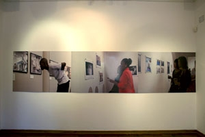 Installation shot of a necessary theatre exhibition at the Photo Workshop Gallery
