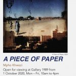 Mpho Khwezi's exhibition 'A Piece of Paper' opening at The Market Photo Workshop's Gallery
