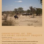 Communities of the Kalahari Advocacy Project Exhibition in Askham, Northern Cape