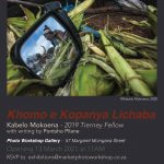 'Khomo e Kopanya Lichaba'  a solo exhibition by Kabelo Mokoena with writing by Pontsho Pilane.